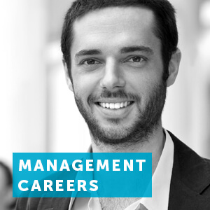 Find out about a career in management