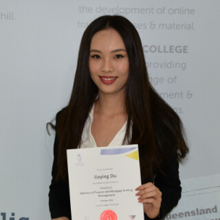Jiaying Du Finance and Mortgage Broking Management student