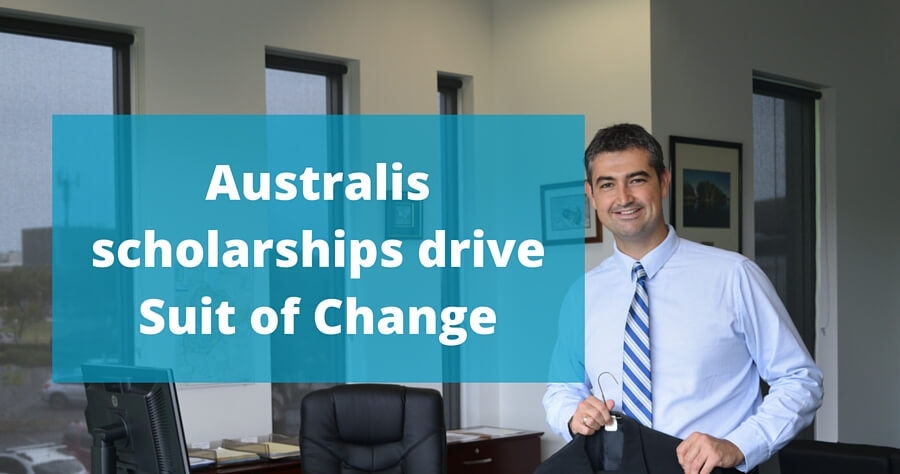 Australis College Scholarship with Suit of Change charity